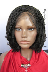 """Fully hand braided lace front wig - Linda color 2 in 6"""""""