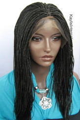 Fully hand braided lace front wig -Hannah  Color #2 in 16""