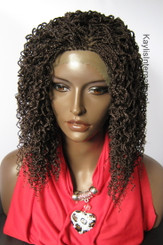 "Hand braided  lace front wig - Grace Color #33  in 14"" Micro/Curly"