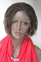 Fully hand braided lace front wig - Linda color 4/27 in 6""