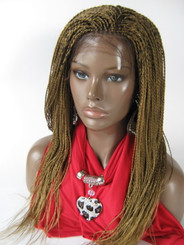 """Hand braided lace front wig Hope color #27  in 17"""""""