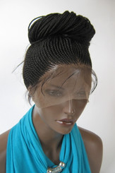Hand Braided Full Lace Ponytail wig - Tasha color #1 Jet Black in 20""
