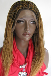 "13"" x 6"" Hand Braided lace front wig Micro Twists- Hope #27/1 in 16"""