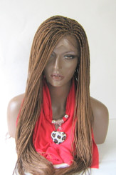 """Fully hand braided lace front wig -Micro Braids Hannah  Color #30 in 20"""""""