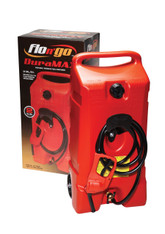 Scepter (Canada) DuraMax Flo 53 Litres Red HDPE Plastic (Petrol/Diesel) Short Jerry Can with Wheel and Siphon Nozzle