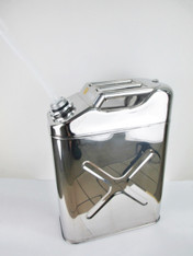 20 Litres Stainless Steel Fuel (Petrol/Diesel/Kerosene) Jerry Can with plastic spout attached