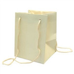 Ivory Hand Tie Bag