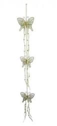 Cream Glitter Butterfly hanger with 3 butterflies