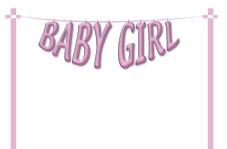 Baby Girl - Washing Line