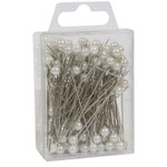 White pearl headed pins 5cm