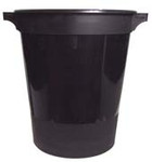 Black Bucket with Handles