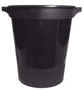 Black Bucket with Handles