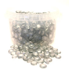 3.5kg Silver Glass Nuggets in Bucket