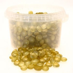 3.5kg Gold Glass Nuggets in Bucket