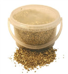 2-4mm 3.5kg Gold Glass Sand in Bucket
