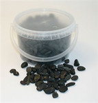 4kg Bucket 5-8mm Black Stones