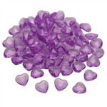 Lilac Acrylic Scatter Hearts