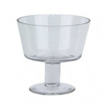 Straight sided bowl on pedestal