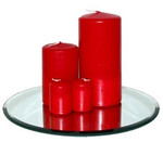 150 x 70mm Red Pillar Candle