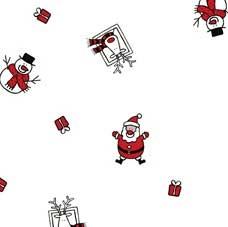 80cm Red/Black Santa/Snowman