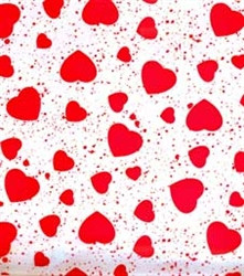 80cm Red Speckle Hearts Film