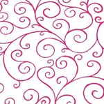 80cm Cerise Scroll Cellophane