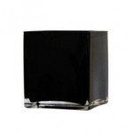 Glass Cube - Black 10cm