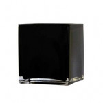 Black Glass Cube 8cm