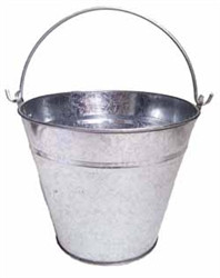 22cm Galvanised Bucket