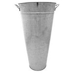 60cm Galvanised Vase with ears