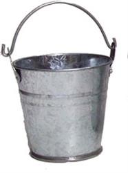 10.5cm Galvanised Bucket