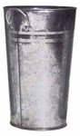 Galvanised Vase (H30 Dia17cm)