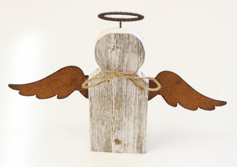 Recherche Natural Reclaimed Angel 9 with Metal Wings and Halo