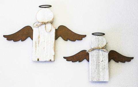 Natural Reclaimed Rustic Angel 9 and 11 Twin Pack