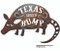 Texas Speed Bump rustic metal sign.