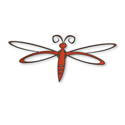 RUSTIC METAL DRAGONFLY MAGNET