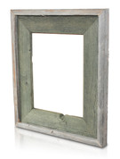 Natural Reclaimed Frame, Alligator Green