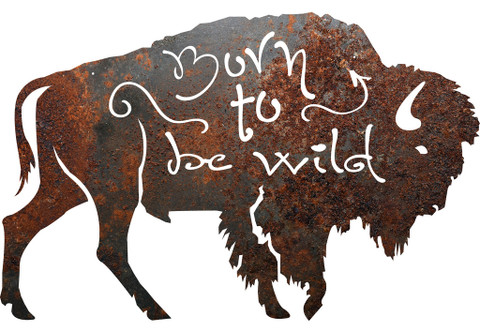 BORN TO BE WILD BUFFALO METAL SIGN