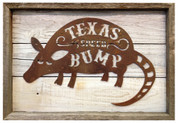 Texas Speed Bump Rustic Sign