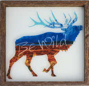 Rustic Glass Framed Elk
