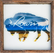 Rustic Glass Framed Buffalo ROAM