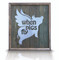 "Brushed metal Flying Pig ""When Pigs Fly"" sign on alligator green reclaimed wooden frame"