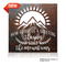 """""""How Glorious A Greeting The Sun Gives The Mountains"""" is a new large format rustic metal sign. It measures 18"""" square. Comes in two finishes rust and brushed."""