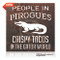 """""""People in Pirogues, Crispy Tacos in the Gator World"""" rustic metal sign. Available in two finishes. Rust and Brushed."""