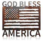 God Bless America flag.