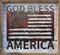 God Bless America Flag on white shabby frame.