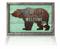 Bear Feet Welcome rustic metal sign on Jade reclaimed wood frame