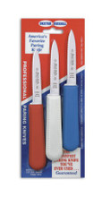 S104 Paring Knife 3-pack from Dexter Russell - Red White Blue