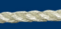 "Twisted Nylon Rope; 1/4"" dia.; 1600 # test; 600' length"