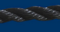 "Twisted Polypropylene Rope; 3/8"" dia.; 2500# test; 600' length"